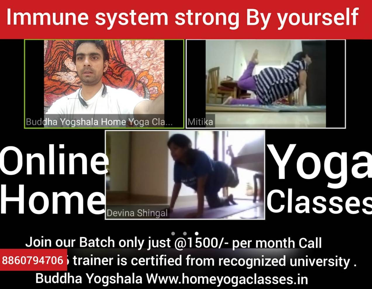 Yoga classes at Home